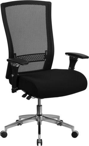 24/7 High Back Black Mesh Seat